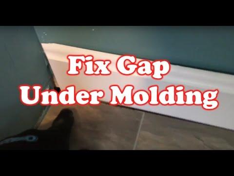 How to Fix Gap under a Floor Molding – Quick Fix