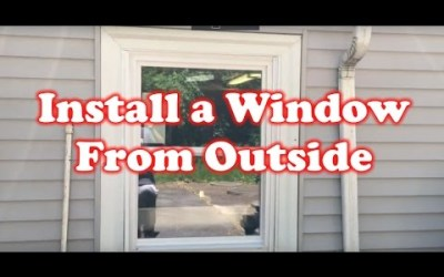 How to Install a Window from the Outside of a Building