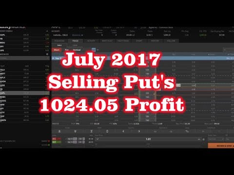 July 2017 – Selling Put Options Credit Spreads – $1024.05 Profit