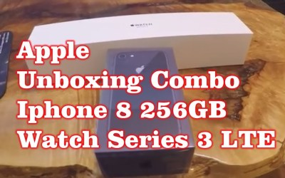 Apple  Unboxing Combo – Iphone 8 & Watch Series  3 LTE – Space Grey
