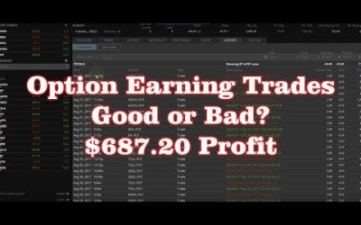 Option Earning Trades – Good or Bad? Selling Put Spreads – August 2017 – $687.20 Profit