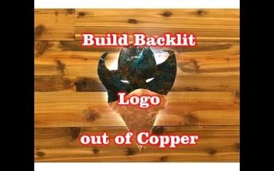 Build a LED Backlit Logo out of Copper