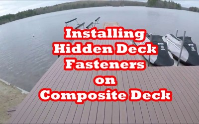 How to Install Hidden Deck Fasteners on Composite Deck