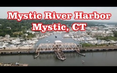 Mystic River Harbor – Mystic, CT – Drone