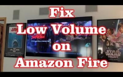 Fix low speaker volume on Amazon Fire!!