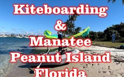 Kiteboarding & Manatee Swimming on Peanut Island, Florida