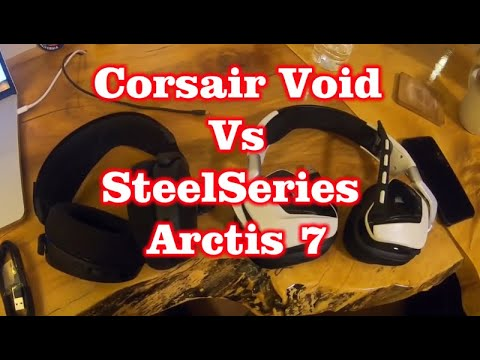 Corsair Void Pro RGB vs SteelSeries Arctis 7 : PC Gaming Wireless Headset Showdown!