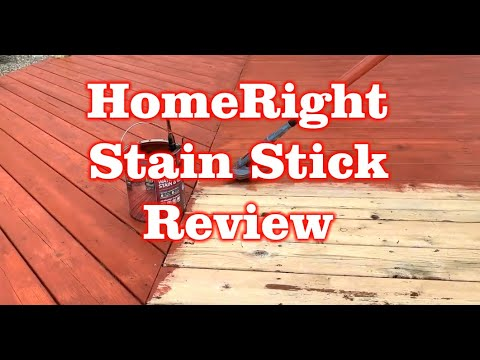 Review of HomeRight Stain Stick with Home Depot Bear Deck Stain