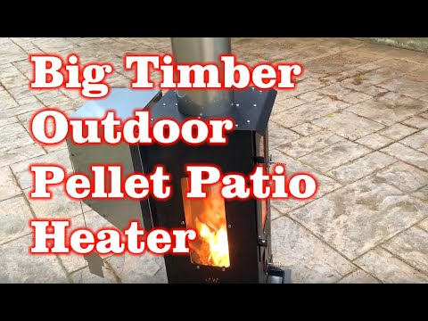 Big Timber Wood Pellet Outdoor Patio Heater Amazon Assembly and Review