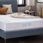 LUCID 10 Inch Gel Memory Foam Mattress – Dual-Layered – CertiPUR-US Certified – 10-Year Warranty – Queen
