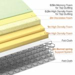 ZINUS 12 Inch Memory Foam Spring Hybrid Mattress/Euro Top Innerspring Mattress/Green Tea-Infused Foam/CertiPUR-US Certified/Mattress-in-a-Box, Twin