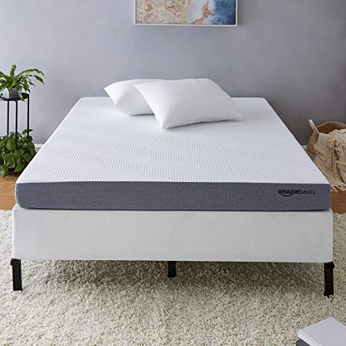 AmazonBasics Ventilated Cooling Gel Memory Foam Mattress – Firm Feel – 5 inch, Cal King