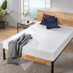 Zinus Justina Quick Snap Standing Mattress Foundation   Platform Bed, No Box Spring Needed   Grey, Twin & 8 Inch Ultima Memory Foam Mattress/Pressure Relieving/CertiPUR-US Certified, Twin