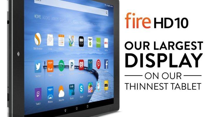 Fire HD 10 Tablet, 10.1 inch HD Display, Wi-Fi, 32GB, Black