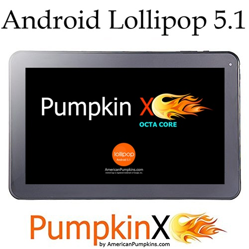PumpkinX Octa Core Tablet 10.1 inch 32GB A83T Android Lollipop 5.1, 1GB RAM, 8-Core GPU, HD 1024x600