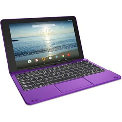 RCA 10 Viking Pro 10.1 inch 2-in-1 Tablet, 32GB, 1.3GHz Quad Core Tablet-Laptop with Touchscreen and Detachable Keyboard, Google Android 5.0 Lollipop - Purple