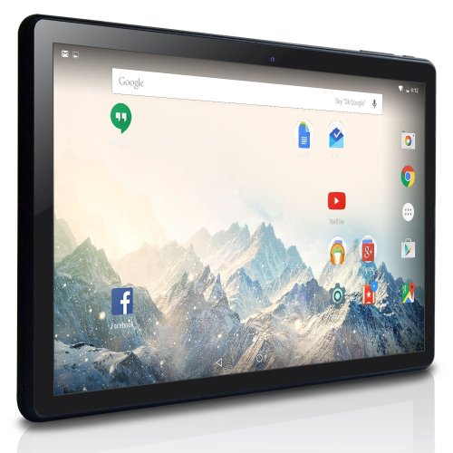NeuTab K1 10.1 inch Android Tablet PC, MTK8127 Quad Core 1.3GHz, Google Android 5.1 Lollipop OS, 16GB Nand Flash, Bluetooth, Mini HDMI, GPS Supported, 1 Year US Warranty, FCC Certified, Black