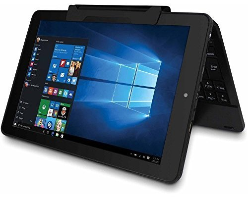 RCA Cambio 10.1 inch 2-in-1 Tablet PC, Intel Atom Z3735F Quad-Core Processor, 2GB RAM, 32GB SSD HDD, Detachable Keyboard, Webcam, WIFI, Bluetooth, Windows 10