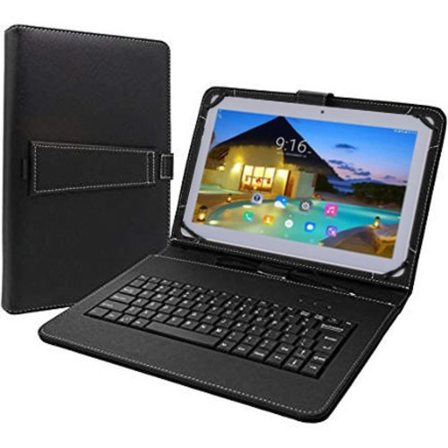 2018 Tagital Cell Phone Tablet PC 10.1-inch Android 6.0 Quad Core, Dual SIM, 1280x800 IPS Screen, Dual Camera, Unlocked GSM, 2G/3G Phablet Bundled Keyboard