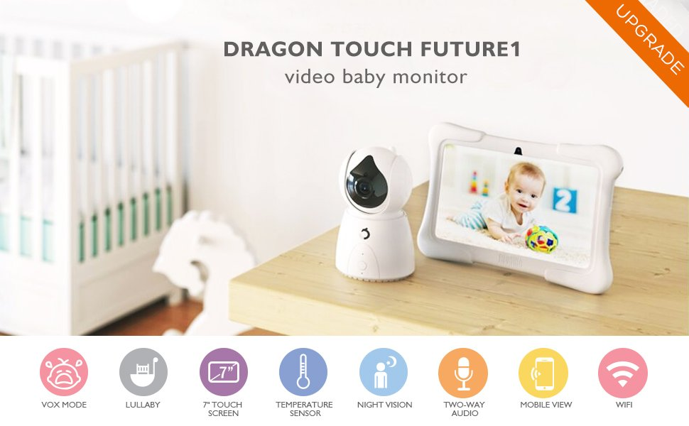 2-Way Audio Baby Monitor Wireless Video Baby Monitor LCD IPS Display Baby WiFi