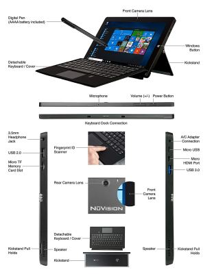Nuvision Kickstand 11 Draw, 2in1 Tablet-Laptop, 11.6-inch Full HD with Windows 10
