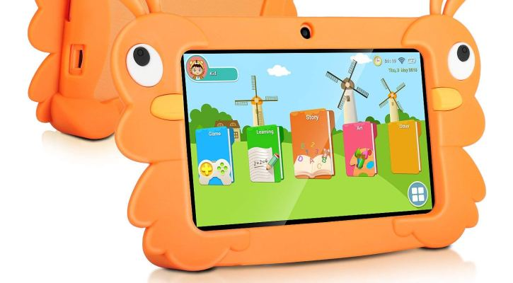 2018 TOPELOTEK 7 Inch Kids Tablet PC Quad Core 1024x600 IPS Eye Protect Display 1GB RAM 16GB Storage