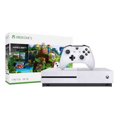 Xbox One S 1TB Minecraft Bundle, includes the full Minecraft game (including the Aquatic update)