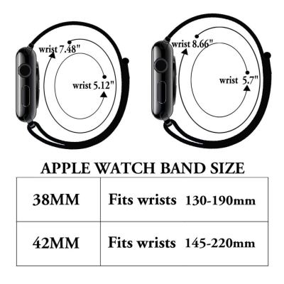 Yunsea Compatible Apple Watch Band 38mm 42mm, Soft Nylon Sport