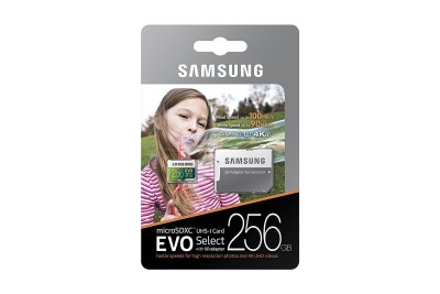 Samsung 256GB MicroSDXC EVO Select Memory Card with Adapter