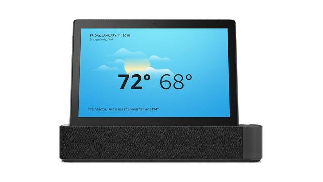2019 Lenovo Smart Tab P10 2-in-1 Tablet, 10.1-inch Alexa-Enabled Android Smart