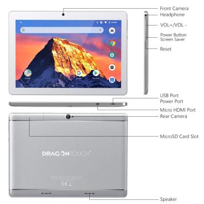 2019 Dragon Touch K10 10-inch Android Tablet, RAM 2GB, 16GB Hard Drive, WiFi