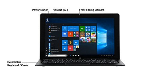 Nuvision 2in1 Tablet Laptop with Detachable Keyboard, 11.6-inch IPS Full HD
