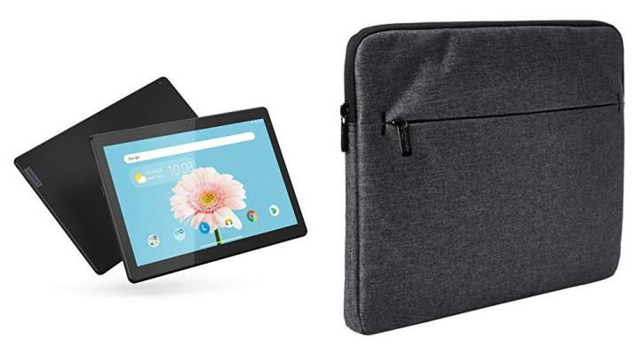 Lenovo Smart Tab M10 2-16 with AmazonBasics Tablet Laptop Sleeve Case