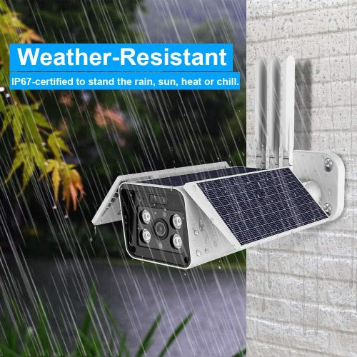 FUVISION Solar Wireless Security Camera, Solar Powered Wireless Outdoor