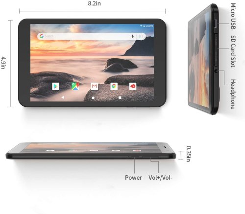 2020 Vankyo MatrixPad S8 Tablet 8-inch, Android 9.0 Pie, 2GB RAM, 32GB Storage