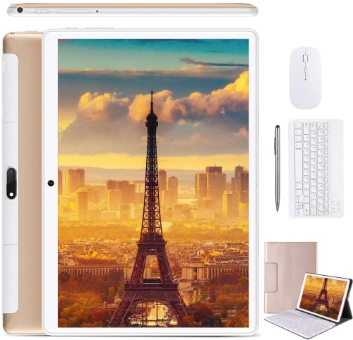 2020 DUODUOGO 10-inch 2-in-1 Tablet, Android 9.0 Phone Tablet PC