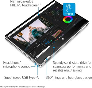HP Pavilion x360 14-inch 2-in-1 Convertible Laptop Tablet