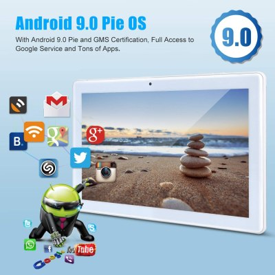 Llltrade 10-inch Android Tablet, Android 9.0 Pie, GMS Certified
