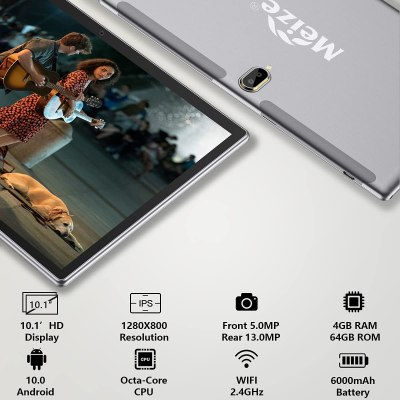 MEIZE 2 in 1 Tablet Phone Call, 10.1 Inch, Dual 4G Cellular