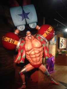 Figurine of Franky doing the Super pose