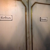 Two closets with Nami and Robin labelled on each