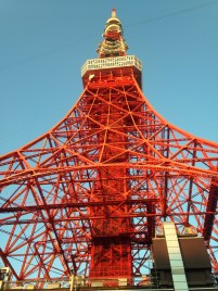 Tokyo Tower as seen from just below it