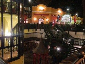 View of the Ghibli Museum at night
