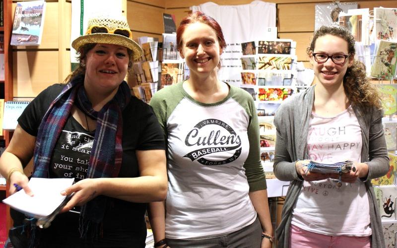 Liz, Jen, Femke - Boekpresentatie Hitte