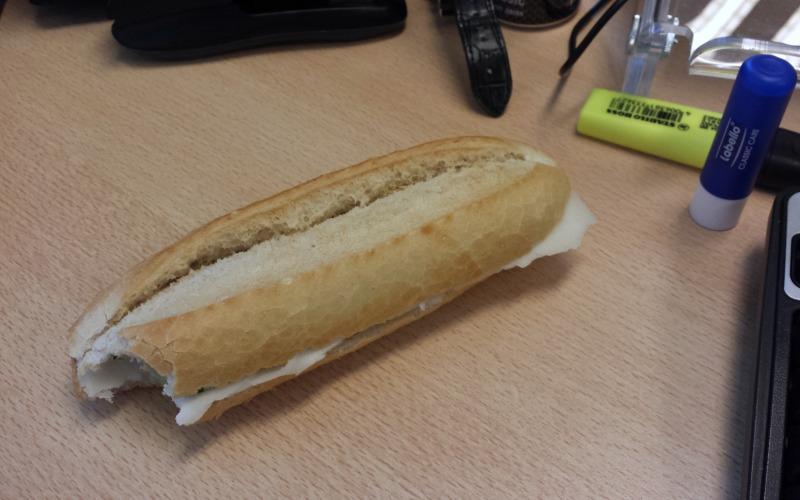 Broodje op het werk