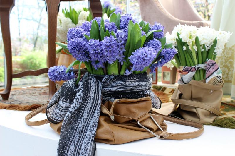 Keukenhof - Paarse bloem in tas