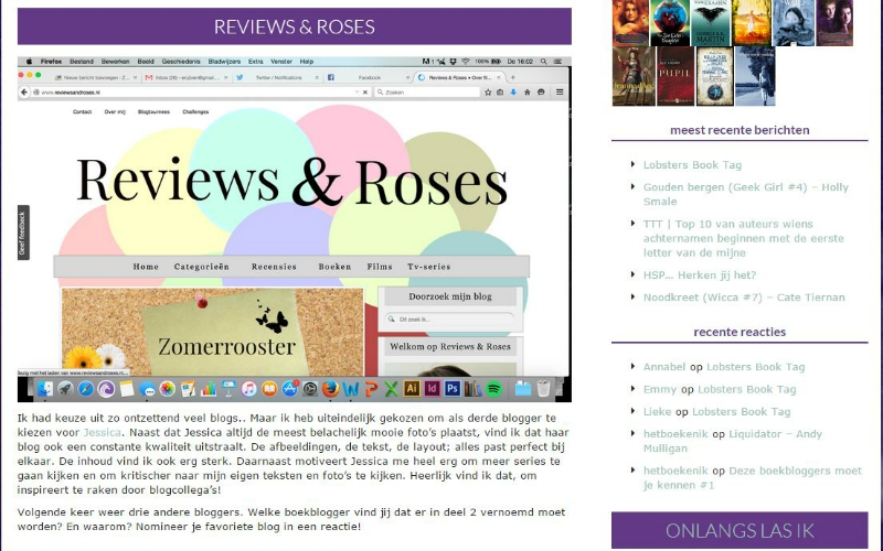 Zon en Maan over Reviews & Roses
