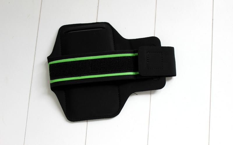 Groen gestreepte sport armband
