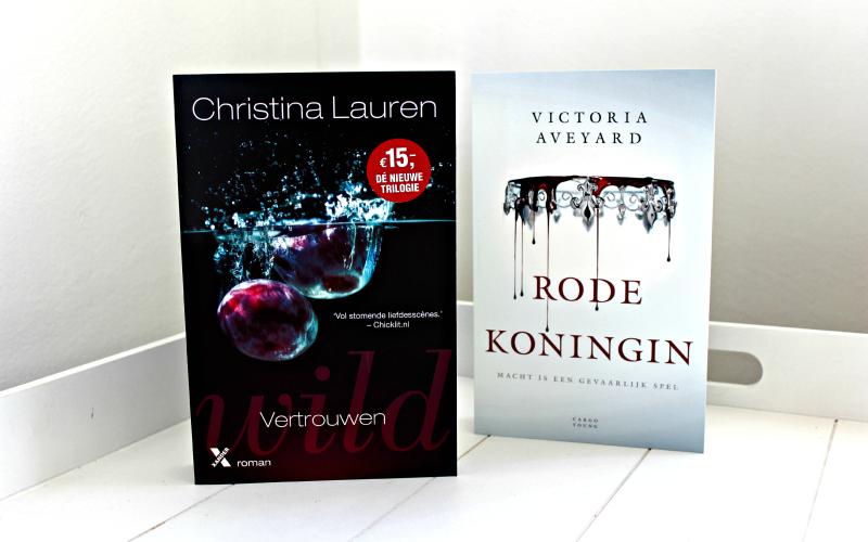 Nieuwe boeken - Bruna Drachten - Wild Vertrouwen en Rode Koningin