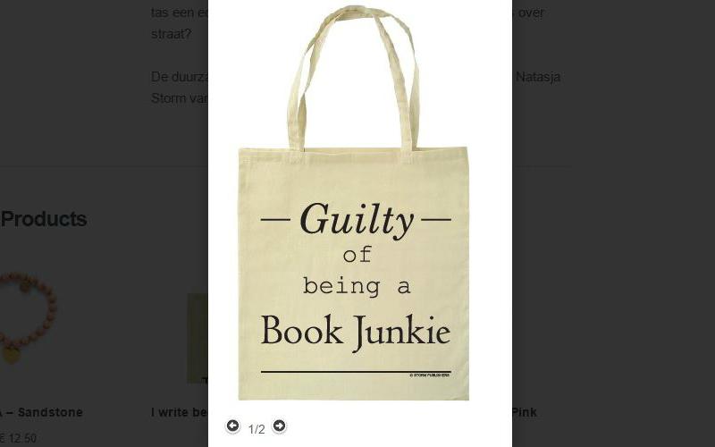 Guilty of being a book junkie tas